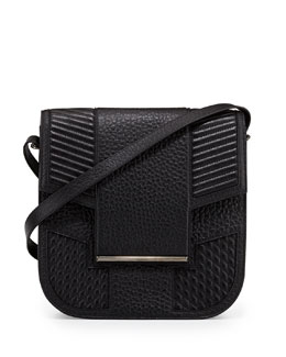 Reece Hudson Knox Leather Saddle Bag, Black