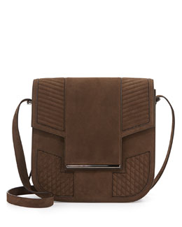 Knox Nubuck Saddle Bag, Green