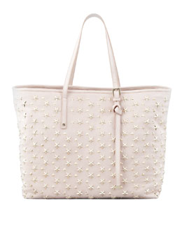 Jimmy Choo Sasha Star-Studded Tote Bag, Neutral