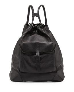 Rag & Bone Grayson Leather Backpack, Black