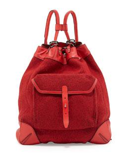 Rag & Bone Grayson Leather Backpack, Dark Red
