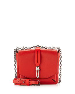 Rag & Bone Enfield Mini Envelope Flap Top Shoulder Bag, Royal Red