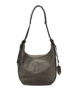 Rag & Bone Bradbury Leather Zip Hobo Bag, Iron Gray
