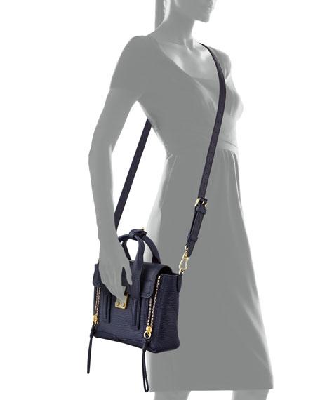 Pashli Leather Mini Satchel Bag, Ink