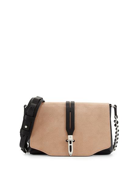 Enfield Flap Crossbody Bag, Nude
