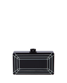 Edie Parker Jean Glow-in-the-Dark Acrylic Clutch Bag, Black