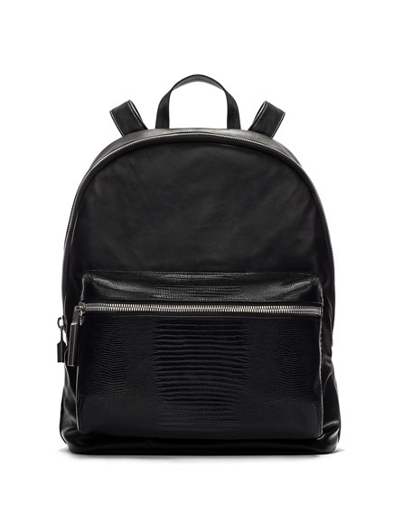 Cynnie Lambskin Backpack, Black