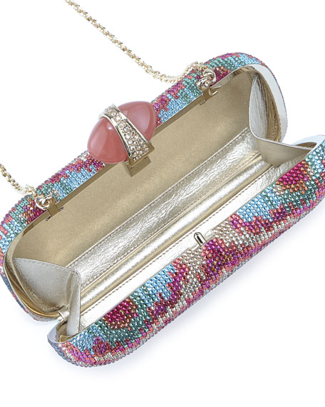 New Soap Dish Crystal Clutch Bag, Multi