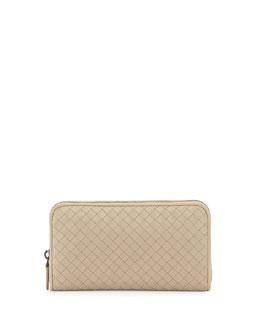 Continental Zip-Around Wallet, Beige