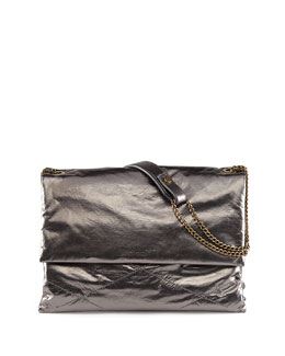 Metallic Sugar Shoulder Bag, Silver