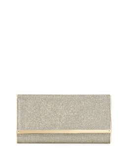Maia Large Glittery Wallet Clutch Bag, Bronze