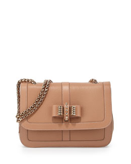 Sweet Charity Calfskin Shoulder Bag, Nude