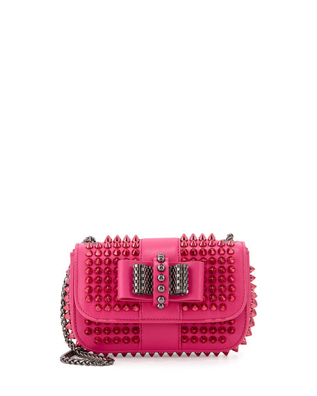 ccb031f37bd Sweet Charity Small Spiked Crossbody Bag Pink