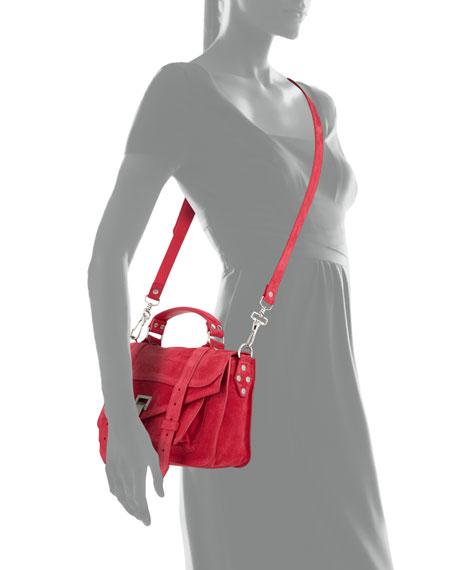 PS1 Tiny Suede Shoulder Bag, Raspberry