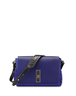 Proenza Schouler Elliott Bicolor Shoulder Bag, Dark Blue/Black