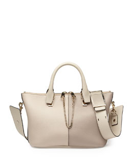 Chloe Baylee Medium Bicolor Shoulder Bag, White