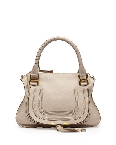 Marcie Medium Shoulder Bag, Cream