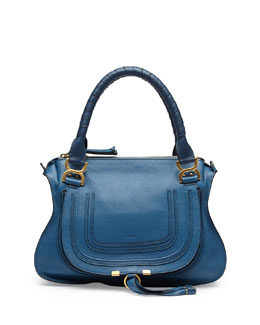Chloe Marcie Medium Shoulder Bag, Cobalt