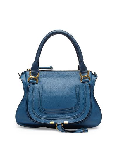 Marcie Medium Shoulder Bag, Cobalt