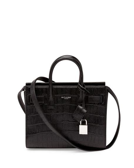 Sac de Jour Mini Satchel Bag, Black