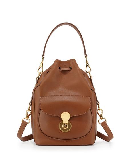 Ricky Napa Calfskin Bucket Bag, Cognac