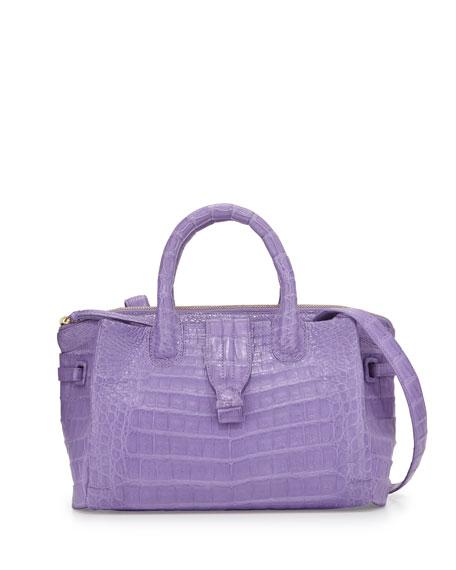 New Cristina Small Crocodile Tote Bag, Lilac Matte