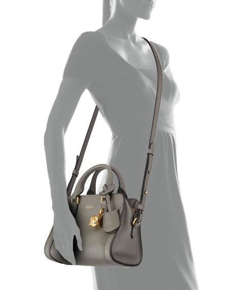 Mini Padlock Satchel Bag, Dark Gra