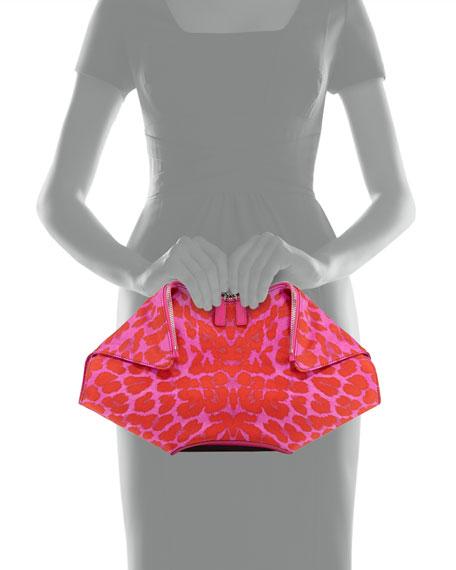 709f3c52aa1d Alexander McQueen Leopard-Print De-Manta Clutch Bag, Pink/Red