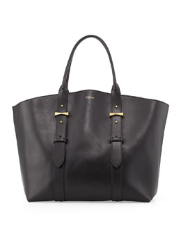 Legend Medium Leather Tote Bag, Black