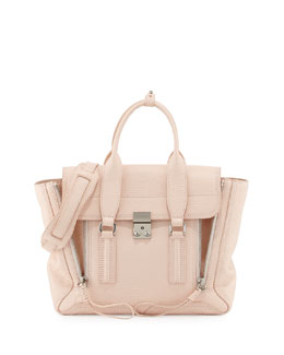 Pashli Medium Satchel Bag, White Peach