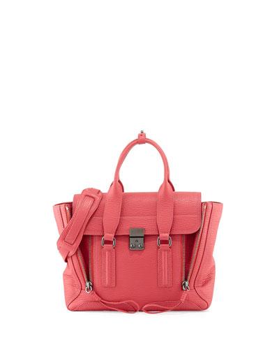 Pashli Medium Satchel Bag, Raspberry