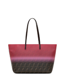Painted Zucca Medium Roll Tote Bag, Pink