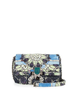 Petra Python Mini Shoulder Bag, Multi