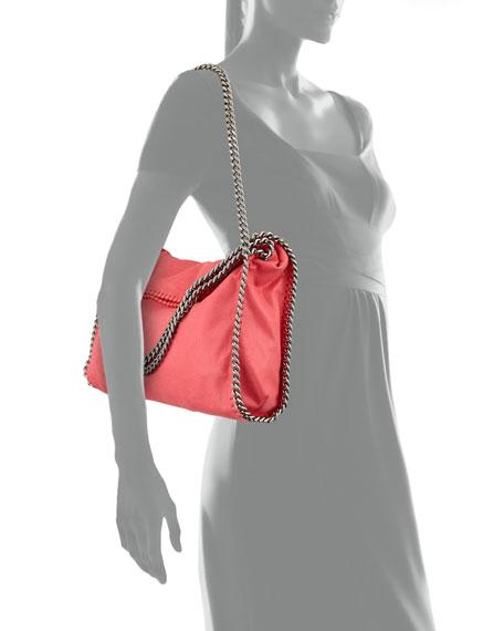 Falabella Small Fold-Over Tote Bag, Bright Coral