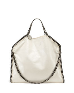Stella McCartney Falabella Small Fold-Over Tote Bag, White