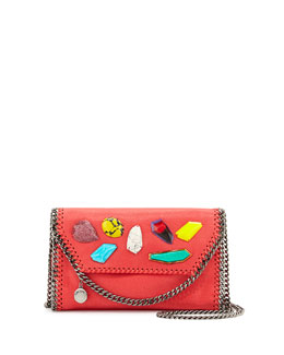 Falabella Stones Flap Shoulder Bag, Pink