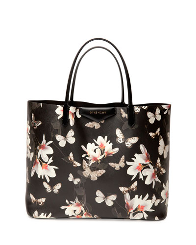 Antigona Large Leather Shopping Tote, Magnolia Pr