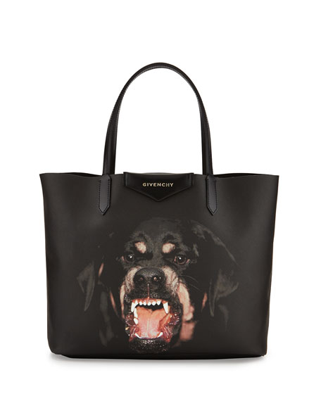 Antigona Rottweiler Small Coated Canvas Shopping Tote Bag