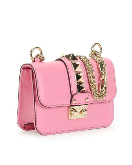 Lock Micro Mini Shoulder Bag, Pink