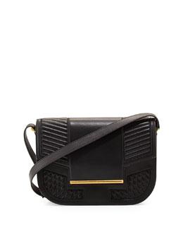Knox Leather Messenger Bag, Black