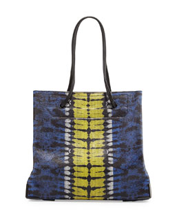 Prisma Large Skeletal Tote Bag, Plasma/Acid