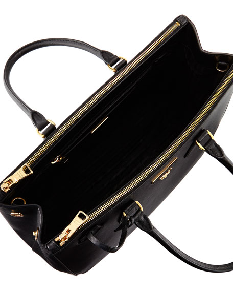 Saffiano Medium Executive Tote Bag Black Nero