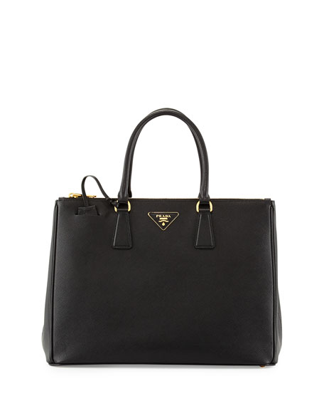 4983bce558e3 Prada Saffiano Medium Executive Tote Bag, Black (Nero)