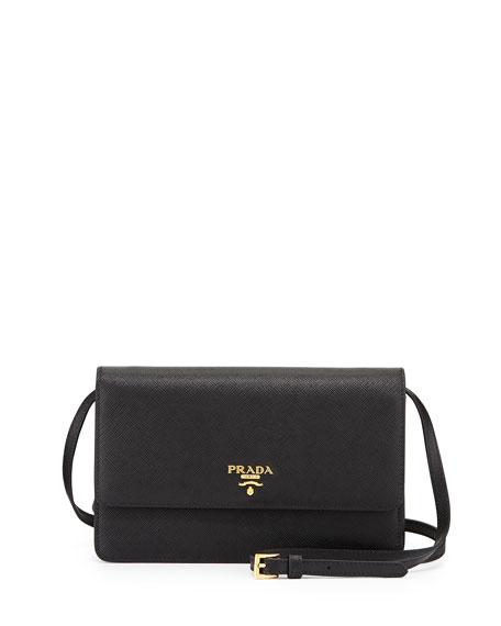 9907b4c3f8c2 inexpensive prada saffiano mini crossbody bag black nero 45019 e0c4d