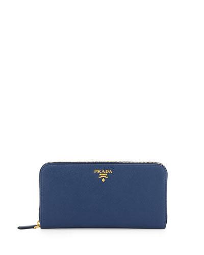 Saffiano Organizer Wallet, Dark Blue (Bluette)