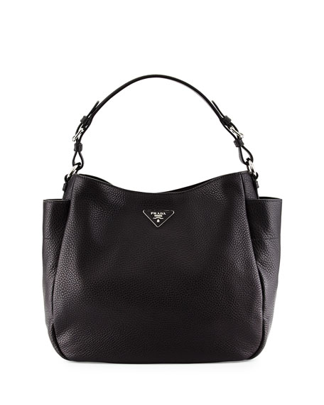 replica prada watch - Prada Vitello Daino Single Strap Tote Bag, Black (Nero)