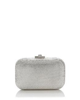 Judith Leiber Couture Crystal Slide-Lock Clutch Bag, Rhine
