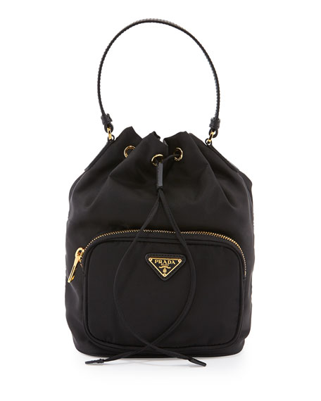 79fa0e5d7d0c Prada Tessuto Mini Bucket Crossbody Bag, Black (Nero)