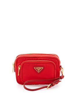 Tessuto Small Pocket Crossbody Bag, Red (Rosso)
