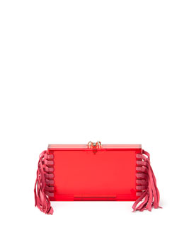 Fringe Pandora Clutch Bag